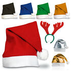 Christmas Xmas Santa Party Hats Wholesale Multiple Quantities Fancy Dress Adult