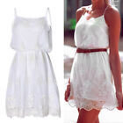 New Women Summer Casual Sleeveless Party Evening Cocktail Short Lace Dress CXF