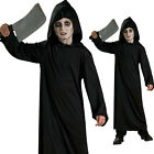 4-6 YEARS CHILDRENS KIDS HORROR ROBE GRIM REAPER HALLOWEEN FANCY DRESS COSTUME
