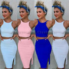 Summer Women Bodycon Mini Dress Sleeveless Halter Slim Stretch Short Dress