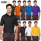 NEW Core 365 Men's 100% Polyester Performance Piqué BIG 2X-5X Polo Shirt B-88181