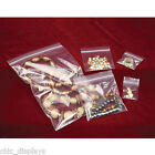 LOT OF ZIPLOC BAGS ZIPPER BAGS JEWELRY BAGS RECLOSABLE CLEAR BAGS POLY BAGS