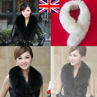 UK Sellers Womens Winter Faux fox Fur Fluffy Scarf Collar Neck Fur Collar Warm