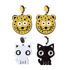 1 Pair Acrylic Earrings Cat Women Jewelry Accessories Ear Studs Cute Gifts Decor
