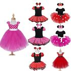 NEW 2PCS Baby Girl Minnie Mouse Romper Tutu Dress Birthday Party Costume Outfit