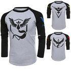 FOR Pokemon Go Team Valor Mystic Instinct Mens Womens Short Sleeve Tops EN24H