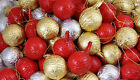 Milk Chocolate Baubles Gold Red Silver Christmas Tree Decorations Xmas