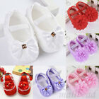 Newborn Infants Baby Girl Bowknot Crib Shoes Moccasin Prewalker Sole Shoes Cute