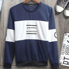 New Fashion Men's Slim Fit Print Long Sleeve Crew Neck Pullover T-Shirt Tee Tops