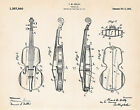 1921 Ashley Violin Drawing Patent Art Print Drawing Gifts For Violin Lovers