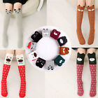 1Pair Girl Kids Cute 3D Cartoon Animal Pattern Thigh Stockings Over Knee Socks