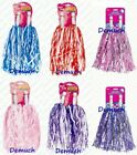 New 2Pack POM POMS POMPOM Pink Blue Purple Baton Party Fancy Dress CHEERLEADER ✔