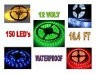 5 METER LED LIGHT STRIP Kit (150 LED's) 16.4 FT (Amber, Red, Blue, White, Green)