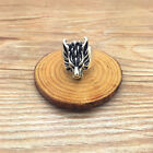 NEW for Men's 316l stainless steel Fashion Punk design wolf ring US size9 Q38
