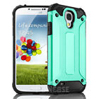For Samsung Galaxy S4 Shock Proof Silicone Rugged Hybrid Slim Armor Case Cover