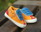 Infant Baby Boy Girl Orange Mickey Mouse Crib Shoes Size Newborn to 18 Months