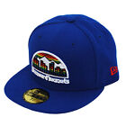 New Era 59fifty Denver Nuggets hardwood klassisch Königsblau Fitted Mütze Hut