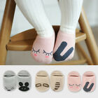 Unisex Baby Kids Cute Soft Non Slip Cartoon Asymmetric Cotton Socks 0-2 years