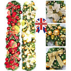9ft 2.7M LED Decorated Light up Garland Christmas Decor Fireplace Tree Pine