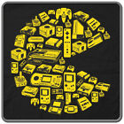 PAC-MAN Video Game Collage T-SHIRT - 80's RETRO Video Game Joystick Arcade Tee!