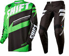 NEW 2016 SHIFT RACING ASSAULT DIRT BIKE MOTOCROSS GEAR COMBO BLK/GREEN ALL SIZE