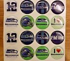 """NFL SEATTLE SEAHAWKS Epoxy Stickers 1"""" 3/4"""" 1/2"""" 20mm round for Craft or Jewelry"""