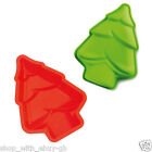 2 - 10 Christmas Tree Silicone Xmas Cake Cupcake Icing Moulds Baking Decorating