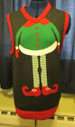 Mens Ugly Christmas Sweater Elf Vest Size S M