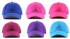 NEWHATTAN 1400 ADJUSTABLE BASEBALL CAPS HATS STONE WASHED 100% COTTON NEW TAGS