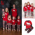 2016 Christmas Family Pyjamas Women Men Kids Deer Xmas Sleepwear Pajamas Set hot