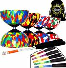 HARLEQUIN Diabolos - Diablo Set + Coloured Metal Diabolo Sticks, String + Bag