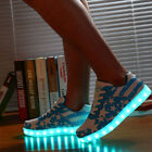 Unisex LED Light shoes American national flag Shoes Lover's Casual dance shoes