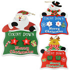 CHRISTMAS KIDS ADVENT CALENDAR WITH HANGERS WOODEN KIDS WALL HANGING COUNTDOWN