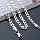 "Silver Chain Necklace Jewelery .925 Stamped 6mm Thick 20"" 22"" 24""long"