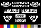 468 CI V8 POWERED 10 DECAL SET BBC ENGINE STICKERS EMBLEMS FENDER BADGE DECALS