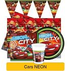 Disney Cars NEON Birthday Party Range - Tableware Supplies Banners & Decorations
