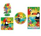 TROPICAL ISLAND LUAU PARTY RANGE (Napkins/Tablecloth/Plates/Decorations)