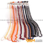 Handmade 10mm Shell Beaded Gemstone Birthstone Long Necklace Fashion Jewelry 36""