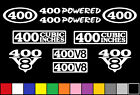 400 CI V8 POWERED 10 DECAL SET ENGINE STICKERS EMBLEMS VINYL SBC DECALS