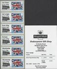 GB 2016 POST & GO MINT SHAKESPEARE BIRTHPLACE & ROYAL SIGNALS FIRST DAY OF ISSUE