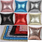 "16"" Square Glitter Sequins Throw Pillow Case Sofa Car Cushion Covers Home Decor"