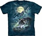 NEW WOLF NIGHT SYMPHONY Wolves Blue Moon The Mountain T Shirt