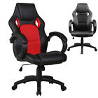 leather gaming chair - Racing Style Gaming Chair Executive Lift Recliner PU Leather Computer Black Red