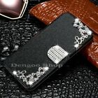 Kyпить Leather Magnetic Shockproof Diamond Flip Wallet Case Cover For iPhone 4 4s на еВаy.соm