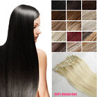 """15"""" Full Head 100% Human Hair Clip In Extensions Remy Hair AAA Quality 7Pcs Set"""