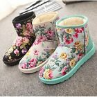 Women Lady Winter Fur Snow Boots Ankle Boots Flat Suede Shoes Warm Size 4-7 N24H