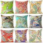 "16"" Floral Paisley Kantha Embroidered Cushion Boho DECORATIVE Indian Pillow Cove"