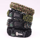 Outdoor Survival Wristband Rescue Parachute Cord Compass/Fire Starter/Whistle
