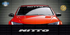 "NITTO TIRES 36"" Windshield Banner Decal Sticker Car Window (Choose Color)"