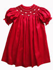 Luli & Me Red Silk Bishop Baby & Toddler Girls Dress Sizes 18M, 24M 2T